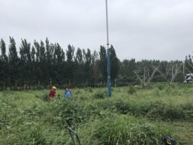 北京房山区45KW潜水深井泵下井调试OK