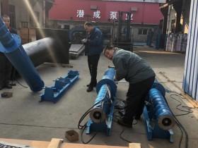 125方128米卧式潜水泵发往电厂