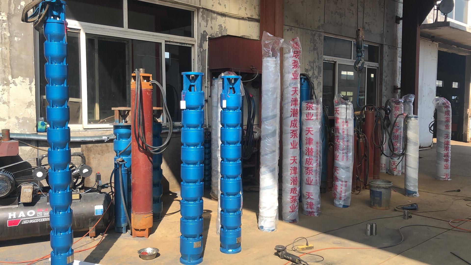 200QJR,250QJR热水深井泵专车送货山东第4张-潜水电机-潜水电泵-高压潜水电机-天津潜成泵业