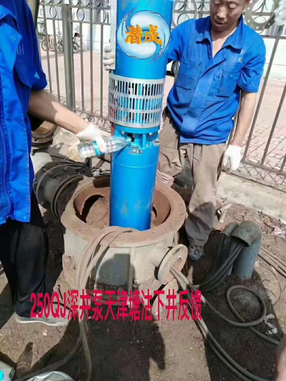 125方160米耐高温热水深井泵天津塘沽下井第1张-潜水电机-潜水电泵-高压潜水电机-天津潜成泵业