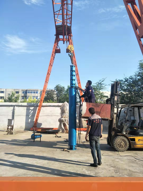 320方130米220千瓦带散热器及模拟井筒水池用潜水泵发往北京第2张-潜水电机-潜水电泵-高压潜水电机-天津潜成泵业