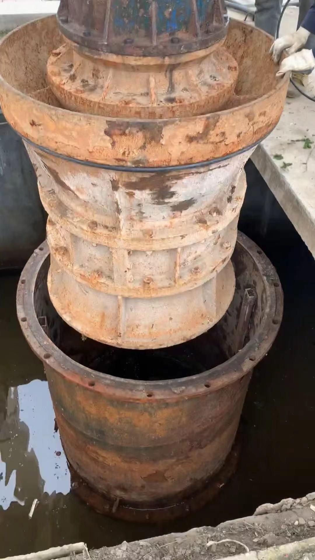 700QZB潜水轴流泵维护保养天津北辰现场安装第2张-潜水电机-潜水电泵-高压潜水电机-天津潜成泵业